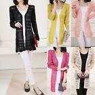 Women's Thin Qualities Slim Loose Hollow Knit Cardigan Sweater with Pockets