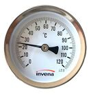 """Solid Metal Industrial Temperature Gauge Dial Probe for water and Oil 1/2"""""""