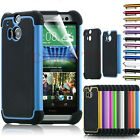 USA Football Line 2 in 1 Case Hybrid PC Silicone Back Cover For HTC ONE M8