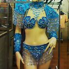 Da NeeNa C042C Burlesque Vegad Showgirl Dance Headdress Costume Set XS-XL