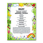 PERSONALISED NAME MEANING PRINT New Baby Girl Christening Naming Birthday Gift