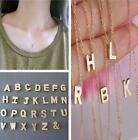 HO AU Women Gift Gold plated Letter name Initial chain Pendant Fashion Necklaces