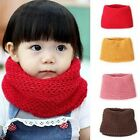 Winter Fashion Soft Baby Kids Toddler Solid Knitted Wrap Neckchief Round Scarf