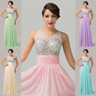 GK New Long SEE-THROUGH Homecoming Prom Gown Party Formal Cocktail Evening Dress
