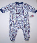 Nwt New York Giants NY Logo Sleeper Pajamas NFL Football White Blue Cute Boy