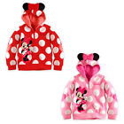 Minnie Mickey Mouse Dot Baby Girls Kids Blouses Tops Shirt Coat Jacket Hoodie