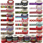Paper Masking Tape Washi Decoration Paper Tape 15mm x 10m Gift & Craft Tape