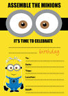 DESPICABLE ME MINIONS PARTY INVITATIONS KIDS CHILDRENS INVITES BIRTHDAY A5