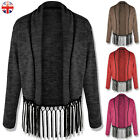 LADIES WOMENS OPEN CARDIGAN BLAZER KIMONO BOYFRIEND JACKET COAT SHAWL PONCHO TOP
