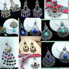 Charm Rhinestone Hanging earring fashion Chandelier Dangle peacock earrings