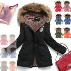 NEW Women Thick Winter Warm Good Faux Fur Fleece Lined Hood Coat 10colors