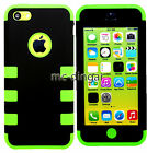 New Colorful Heavy Duty Hybrid Rugged Hard Case Cover For iPhone 5C +Stylus+Film