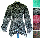 5 colour Fleece WRAP AROUND Jacket CARDIGAN BOHO Hippy Ladies Small M L XL 8- 20