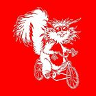 Squirrel Bike American Apparel Long Sleeve T-shirt longsleeve graphic tee crazy