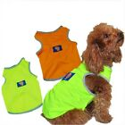 Dog jersey shirt pet jersey clothes summer dog clothes Fluorescence safety vest