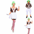 Men Women Umpa Lumpa Chocolate Factory Worker Oompa Loompa Fancy Dress Costume