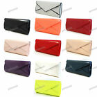 RED WHITE NUDE BLAK BLUE PURPLE CORAL YELLOW BEIGE Patent Leather Clutch Bag 091