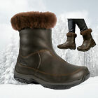 Brasher Womens Katavi Leather Insulated Waterproof Winter Boots - Brown - New