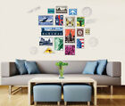 World Stamps Removable Wall Art Stickers Vinyl Decal Art Mural Decor Abstract