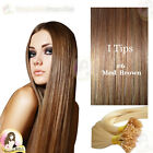 "17"" DIY kit Indian Remy Human Hair I tips/micro beads  Extensions  AAA GRADE #6"