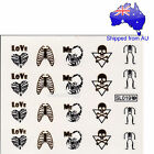 Scorpion Skeleton Skull Poison Ribs Heart - Halloween Themed Nail Water Decal
