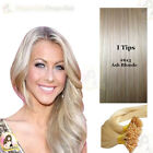 "17""DIY kit Indian Remy Human Hair I tips/micro beads  Extensions  AAA GRADE#613a"