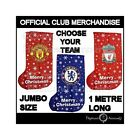Official Football Club Jumbo Xmas Present Stocking New FC Christmas Gift New