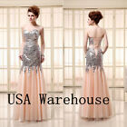 2014 Bling Mermaid Evening Dresses  Beads Sequines Sweetheart Party Prom Gowns