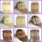"16""18""20""22""6 Colors 100% Clip in Real Human Hair Extensions 7Pcs/set 70g 80g"