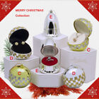 Merry Christmas Ball Ornament Jewelry Gift Box for Earring Ring Pendant Necklace