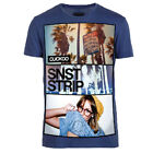Cuckoo's Nest Men's T-Shirt Sunset Strip Navy UK RRP £30