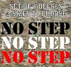 No Step Vinyl Decals Stickers Stencil Truck Boat Jeep Army Military Airplane