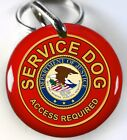 Service Dog ADA red Department of Justice custom tag for pets by ID4PET