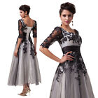 Black New Sexy Lace Applique Vintage Dress Prom Gown Cokctail 2-4-6-8-10-12-14-1