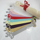 200 pieces Butterfiy Paper Napkin Ring Wedding Party Banquet Favor 9 Colors Pick