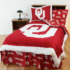 Oklahoma Sooners Comforter Bedskirt and Sham Twin to King Reversible Sets