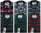 New Mens Yarn Dyed Flannel Lumberjack Check Brushed Cotton Work Shirt M - 3XL