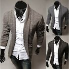 New Mens Cardigan Sweaters Knitwear Wrap Sweater Knitting Top Solid Slim Fit
