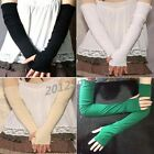 1 pair Women's Girl Warm Arm Warmer Cotton Long Fingerless Gloves Party Gift NEW