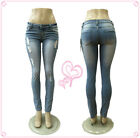 Sexy lady Ripped Mid Rise Stretch Skinny New Gift Fashion Style Women jeans
