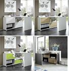 Germania 'Slide' Corner Desks With Reversible Sliding Doors Black/White