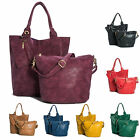 New Designer Ladies 3 in 1 Faux Leather Tote Shopper Handbag and Make up Bag