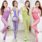 Sexy Lingerie Fishnet Bodystocking Crotchless Open Crotch Stocking Nightwear 2