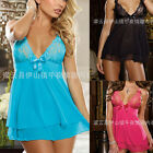 Sexy Women Lingerie Lace Nightwear Dress Underwear Babydoll G-String Sleepwear
