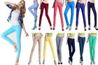 New Women Skinny Slim Coloured Denim Stretch Jeggings Trousers Leggings Jeans UK