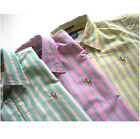 NWT POLO RALPH LAUREN Slim Fit 3 Kinds Striped Oxford Shirt Women