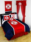 Boston Red Sox Comforter Sham & Sheet Set Twin to King Sidelines
