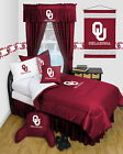 Oklahoma Sooners Comforter and Sheet Set Twin Full Queen Sizes