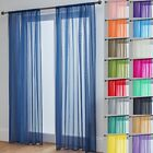 Voile Curtains Pair (2 Panels) Of Lucy Voile Net Slot Top Panels -top Quality