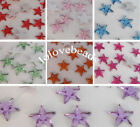 500pcs 12MM Five Star Flatback Rhinestone Scrapbook DIY Embellishment Craft